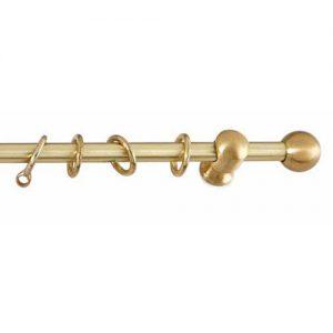 Κουρτινόξυλο Ball Mini Χρυσό ματ Φ10 10111